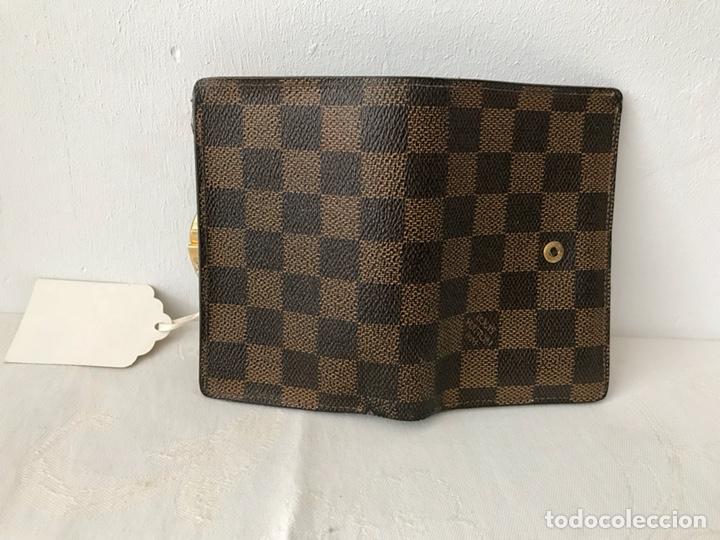 Vintage: Cartera billetera Louis Vuitton. Damier. Cuero 100%. Made in France. - Foto 12 - 151971108