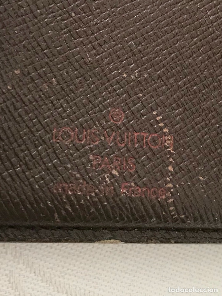Vintage: Cartera billetera Louis Vuitton. Damier. Cuero 100%. Made in France. - Foto 13 - 151971108