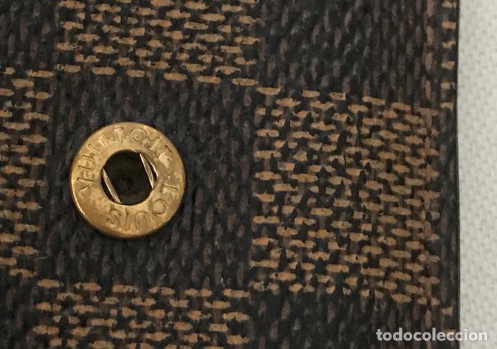 Vintage: Cartera billetera Louis Vuitton. Damier. Cuero 100%. Made in France. - Foto 15 - 151971108