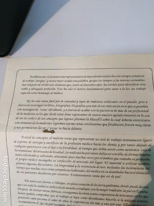 Vintage: MALETIN ANTIGUO DE MEDICO EN CUERO DE UBRIQUE A ESTRENAR - Foto 12 - 152348906