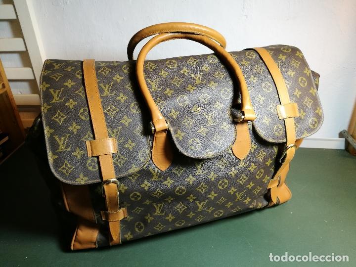 3c016b77b Antiguo bolso bolsa de viaje maleta louis vuitt - Vendido en Venta ...