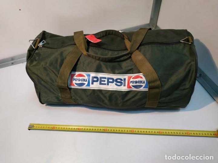 Vintage: Mochila de colección vintage antigua de la marca promocional refresco marca Pepsi cola - Foto 5 - 155251706