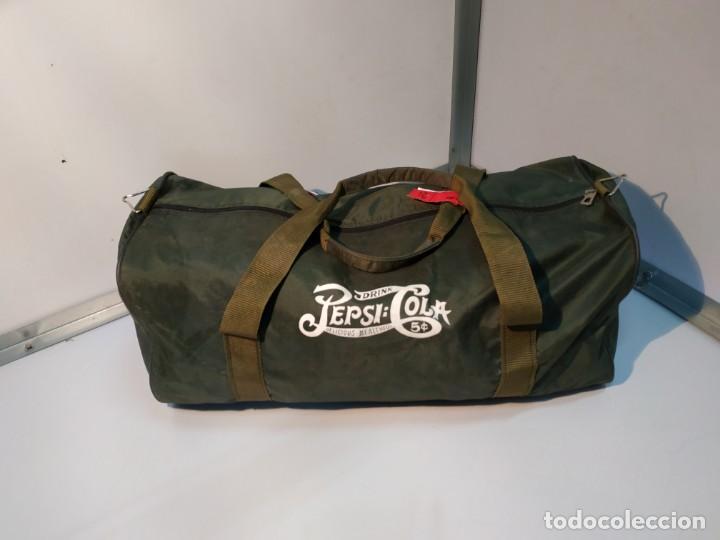 Vintage: Mochila de colección vintage antigua de la marca promocional refresco marca Pepsi cola - Foto 8 - 155251706