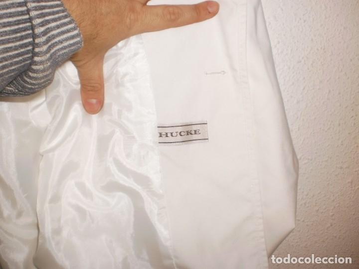 Vintage: HUCKE. Chaqueta entretiempo mujer color blanco. Talla 40. POCO USO - Foto 4 - 155600858