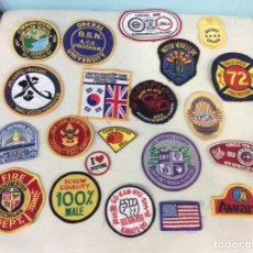Vintage: LOTE 21 PARCHES AMERICANOS. Lote 156261866