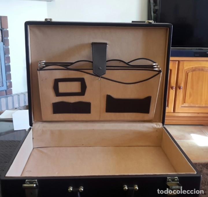Vintage: Maletín de piel antiguo marrón - Foto 3 - 156351142