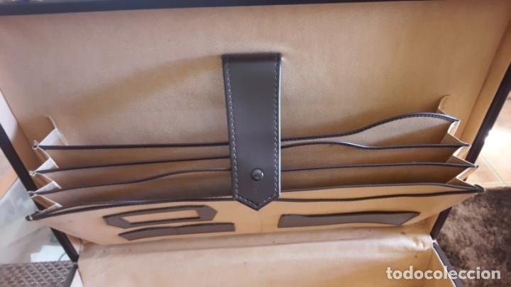 Vintage: Maletín de piel antiguo marrón - Foto 4 - 156351142