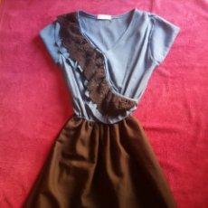 Vintage: VESTIDO AZUL Y NEGRO TALLA M DRESS. Lote 156746772