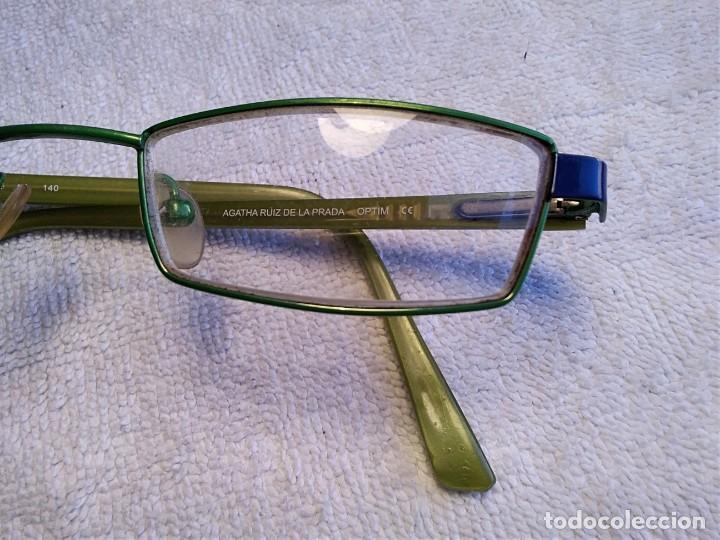 Vintage: Gafas ( AGATHA RUIZ DE LA PRADA. MODELO AL-60033) CRISTALES GRADUADOS. MONTURA BUEN ESTADO. - Foto 3 - 157004958