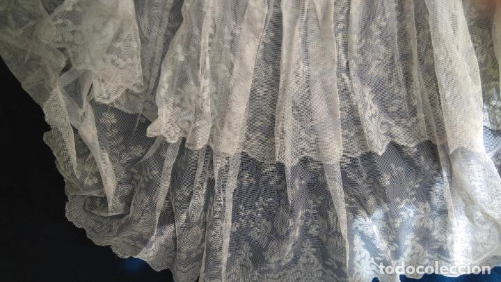 Vintage: Cancán corto para vestidos de los años 1950-60, tejido de nylón y dos volantes de tul pintado. - Foto 3 - 157815922