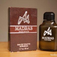 Vintage: MADRAS EDT 50 ML. MYRURGIA PRODUCTO CON CAJA. MUY DIFÍCIL DE ENCONTRAR. Lote 207082492