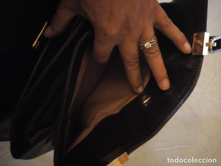Vintage: bolso de piel marrón oscuro nannini firenze vintage,años 50/60 - Foto 8 - 158156990