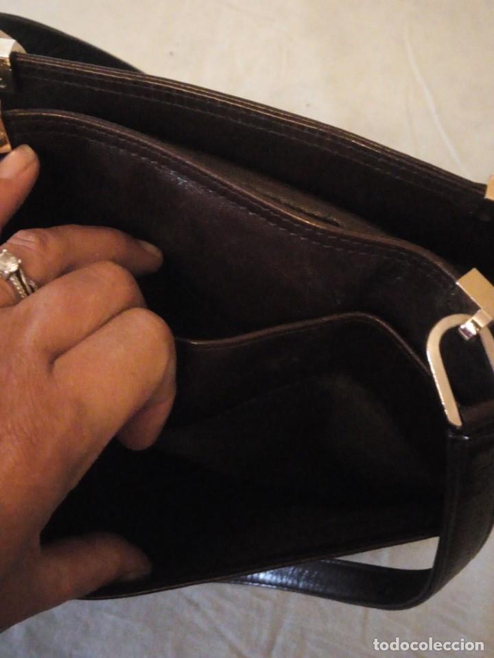 Vintage: bolso de piel marrón oscuro nannini firenze vintage,años 50/60 - Foto 11 - 158156990