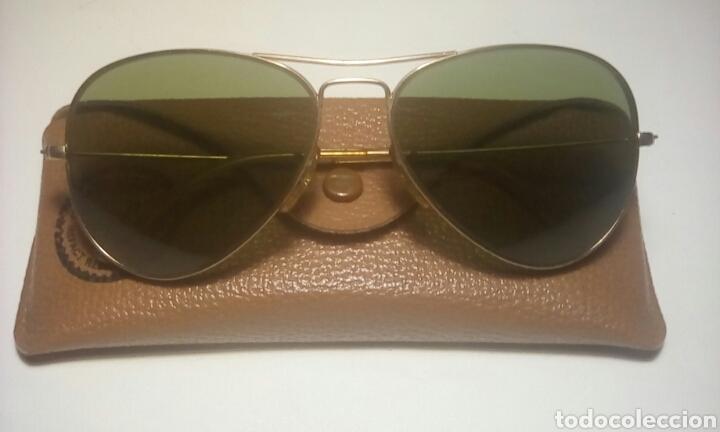 dc109469f6 GAFAS RAY-BAN, MODELO AVIADOR CRISTAL VERDE, (Vintage - Moda - Complementos