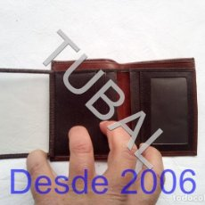 Vintage: TUBAL ESTRENAR UBRIQUE PIEL CARTERA BILLETERO MONEDERO BILLETERA. Lote 159561614