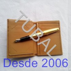 Vintage: TUBAL ESTRENAR UBRIQUE PIEL CARTERA BILLETERO MONEDERO BILLETERA. Lote 159566102