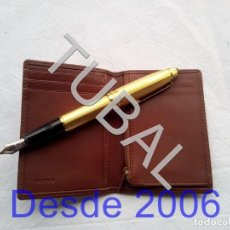Vintage: TUBAL ESTRENAR UBRIQUE PIEL CARTERA BILLETERO MONEDERO BILLETERA. Lote 159567382
