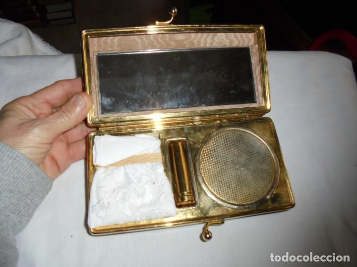 Vintage: BOLSO DE FIESTA TIPO CAREY ESPEJO POLVERA PINTALABIOS Y PAÑUELO - Foto 10 - 159919406