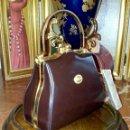 Vintage: BOLSO DE MANO FREDERIC PARÍS. ALTA CALIDAD. NUMERADO. PIEL Y LATON.. Lote 160563904