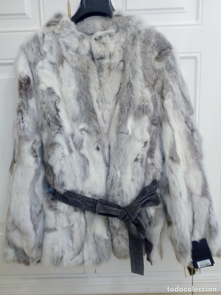 Vintage: Abrigo de piel de conejo sin estrenar - Foto 3 - 160612226