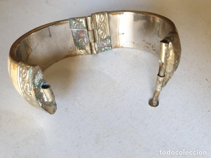Vintage: PULSERA MARFIL PLATA - Foto 2 - 161000498