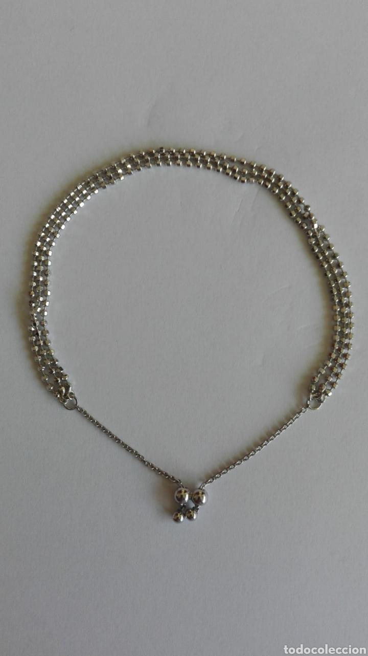 Vintage: Pulsera diseño plata de ley 925 corredera de 5 a 7 cm - Foto 2 - 163500832