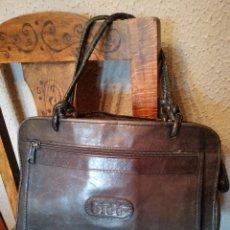 Vintage: BOLSO DE PIEL VINTAGE MARCA BIDO COLOR AZUL MARINO. Lote 164004760