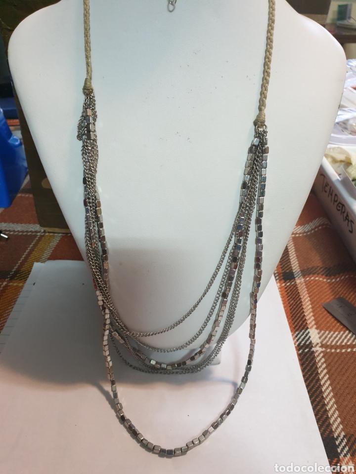 8f98b2e297ab Collar de diseño.largo cordon y cuadradillos pl - Sold through ...