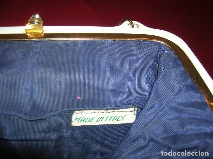 Vintage: Bolso muy Vintage años 60,tejido a ganchillo,adornos,cierre y asa de pasta.Made in Italy - Foto 4 - 165668382