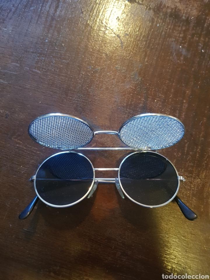 2191f2ef21 Vintage: Gafas de sol montura metálica redonda estilo John Lennon con  rejilla metálica. Rockeras