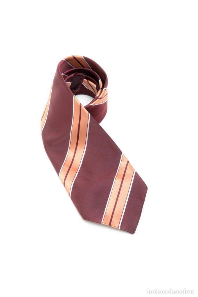 Vintage: Corbata de los años 70 morada con rayas, moda hombre, corbata 60, corbata 70, sixties - Foto 2 - 167126936