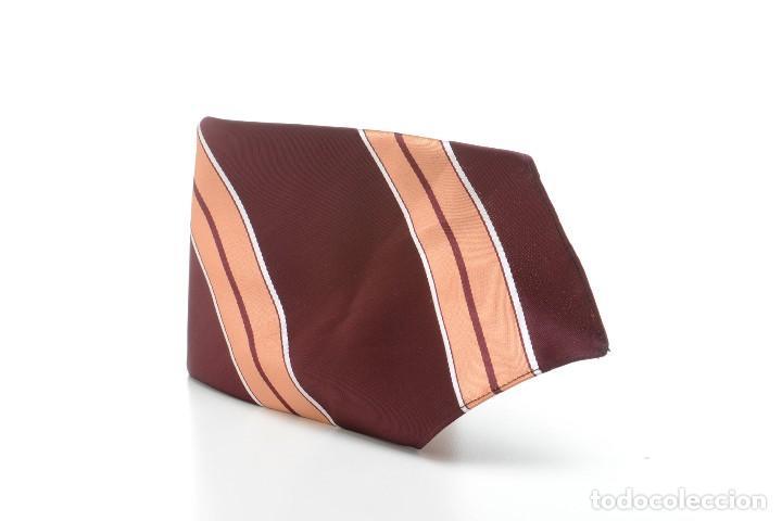Vintage: Corbata de los años 70 morada con rayas, moda hombre, corbata 60, corbata 70, sixties - Foto 3 - 167126936