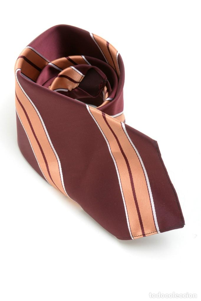 Vintage: Corbata de los años 70 morada con rayas, moda hombre, corbata 60, corbata 70, sixties - Foto 4 - 167126936
