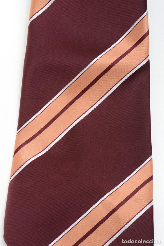 Vintage: Corbata de los años 70 morada con rayas, moda hombre, corbata 60, corbata 70, sixties - Foto 5 - 167126936