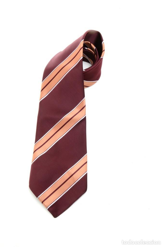 Vintage: Corbata de los años 70 morada con rayas, moda hombre, corbata 60, corbata 70, sixties - Foto 6 - 167126936