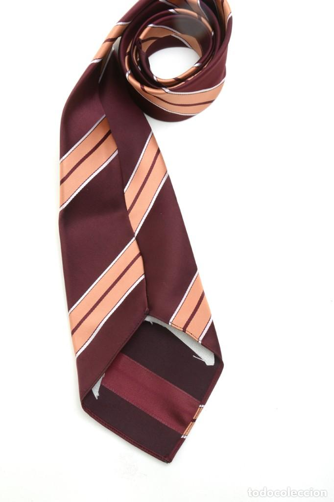 Vintage: Corbata de los años 70 morada con rayas, moda hombre, corbata 60, corbata 70, sixties - Foto 7 - 167126936