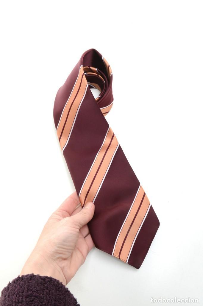 Vintage: Corbata de los años 70 morada con rayas, moda hombre, corbata 60, corbata 70, sixties - Foto 9 - 167126936