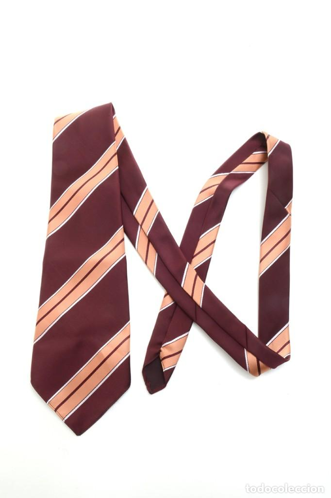 Vintage: Corbata de los años 70 morada con rayas, moda hombre, corbata 60, corbata 70, sixties - Foto 10 - 167126936