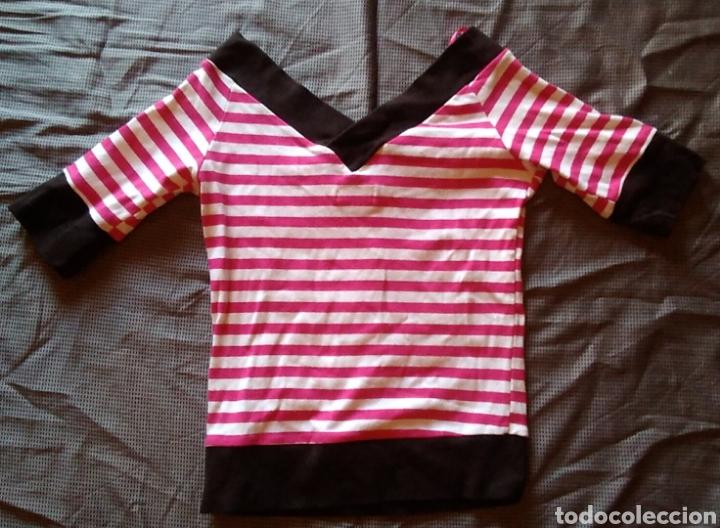 Vintage: Camiseta marca Blanco cuello pico raaas talla xs - Foto 4 - 168275332