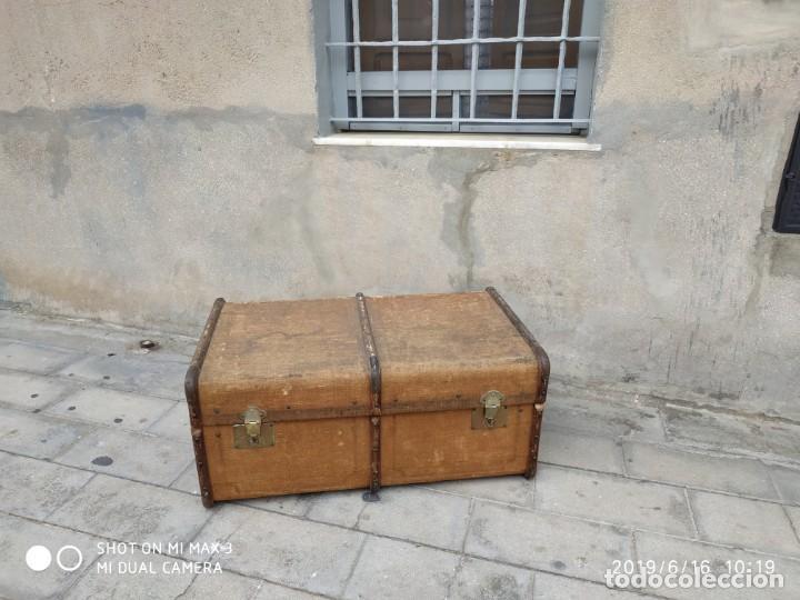 Vintage: maleta cofre arcon antiguo princicipios del S.XX ATREZO CASAS ANTIGUAS DECORACIÓN, DECORADORES, DIS - Foto 2 - 168347556
