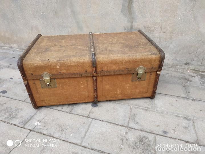 Vintage: maleta cofre arcon antiguo princicipios del S.XX ATREZO CASAS ANTIGUAS DECORACIÓN, DECORADORES, DIS - Foto 4 - 168347556