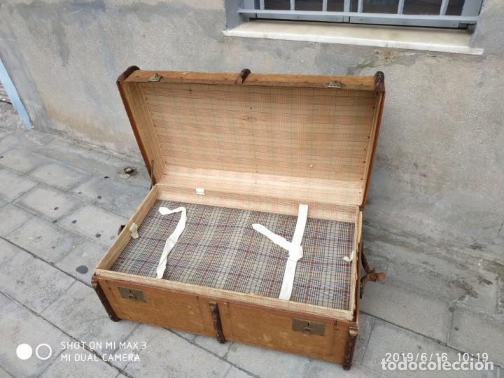 Vintage: maleta cofre arcon antiguo princicipios del S.XX ATREZO CASAS ANTIGUAS DECORACIÓN, DECORADORES, DIS - Foto 6 - 168347556