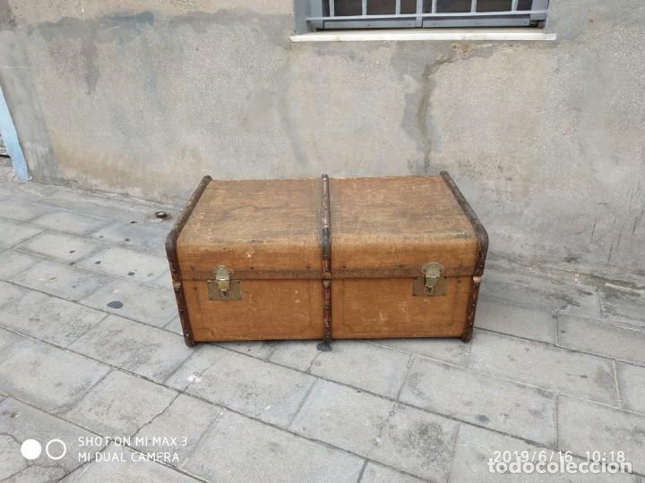 Vintage: maleta cofre arcon antiguo princicipios del S.XX ATREZO CASAS ANTIGUAS DECORACIÓN, DECORADORES, DIS - Foto 9 - 168347556
