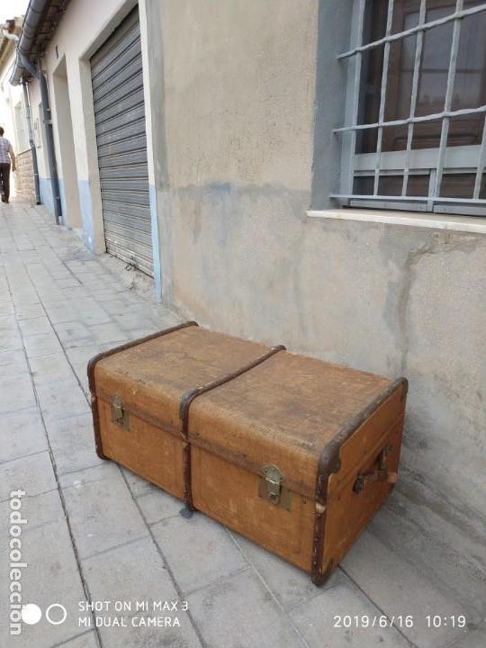 Vintage: maleta cofre arcon antiguo princicipios del S.XX ATREZO CASAS ANTIGUAS DECORACIÓN, DECORADORES, DIS - Foto 5 - 168347556