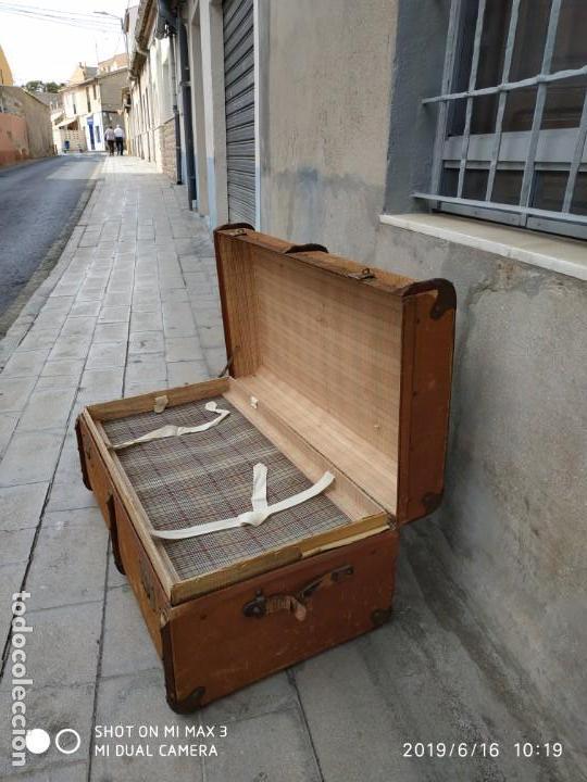Vintage: maleta cofre arcon antiguo princicipios del S.XX ATREZO CASAS ANTIGUAS DECORACIÓN, DECORADORES, DIS - Foto 7 - 168347556