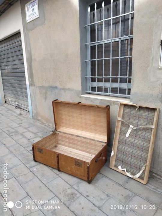 Vintage: maleta cofre arcon antiguo princicipios del S.XX ATREZO CASAS ANTIGUAS DECORACIÓN, DECORADORES, DIS - Foto 8 - 168347556