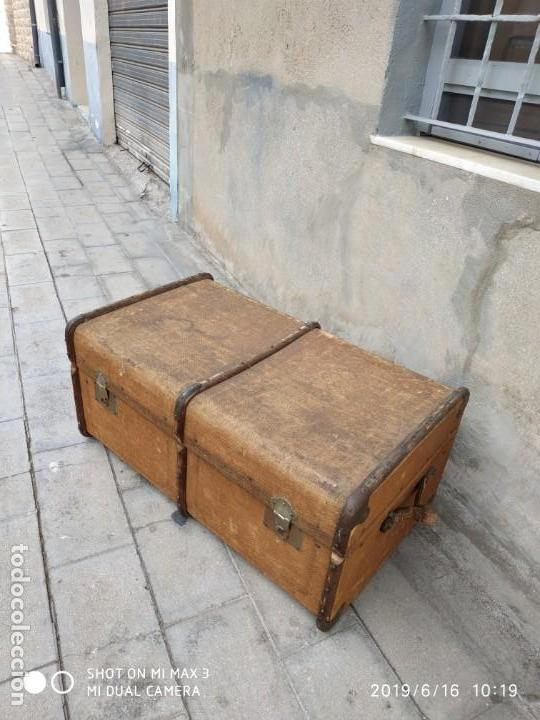 Vintage: maleta cofre arcon antiguo princicipios del S.XX ATREZO CASAS ANTIGUAS DECORACIÓN, DECORADORES, DIS - Foto 10 - 168347556