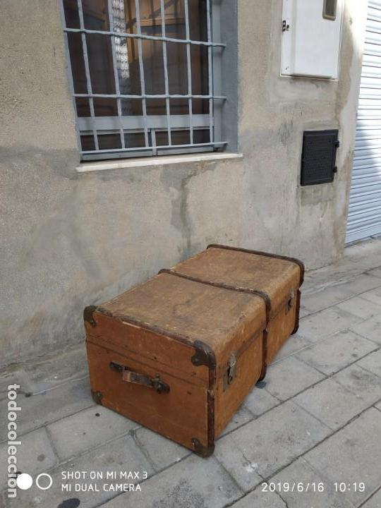 Vintage: maleta cofre arcon antiguo princicipios del S.XX ATREZO CASAS ANTIGUAS DECORACIÓN, DECORADORES, DIS - Foto 11 - 168347556