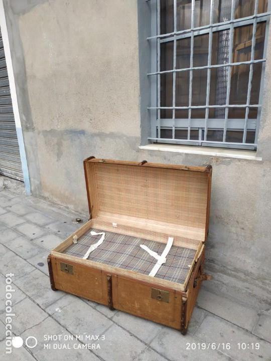 Vintage: maleta cofre arcon antiguo princicipios del S.XX ATREZO CASAS ANTIGUAS DECORACIÓN, DECORADORES, DIS - Foto 12 - 168347556