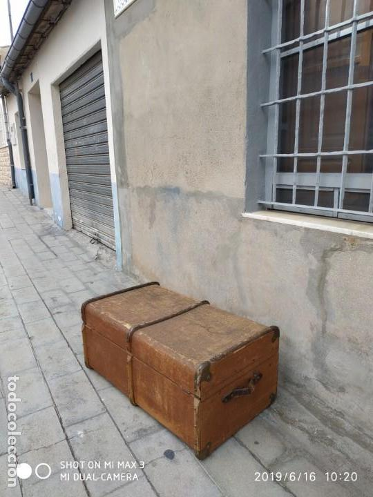 Vintage: maleta cofre arcon antiguo princicipios del S.XX ATREZO CASAS ANTIGUAS DECORACIÓN, DECORADORES, DIS - Foto 13 - 168347556
